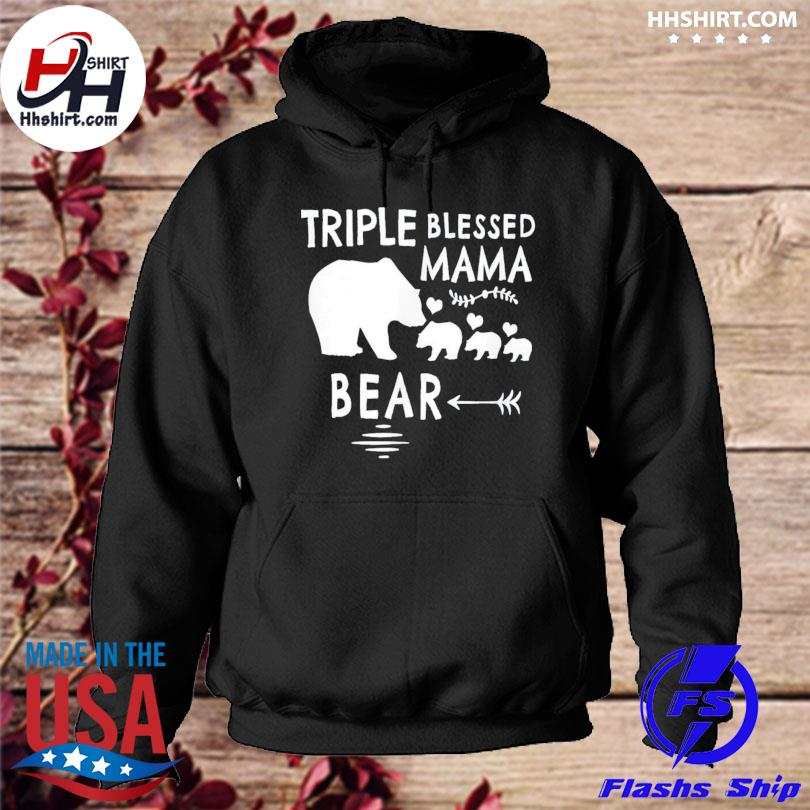 Triple blessed mama bear us 2021 hoodie