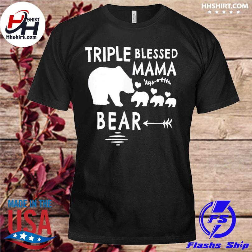 Triple blessed mama bear us 2021 shirt
