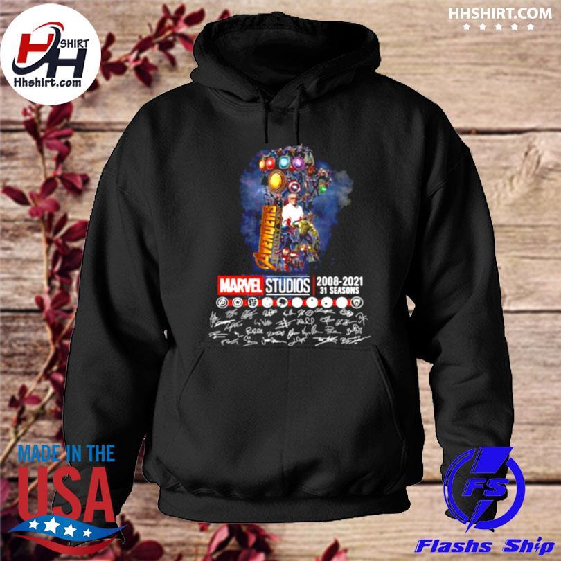 Avengers marvel studio 2008 2021 31 seasons signatures hoodie