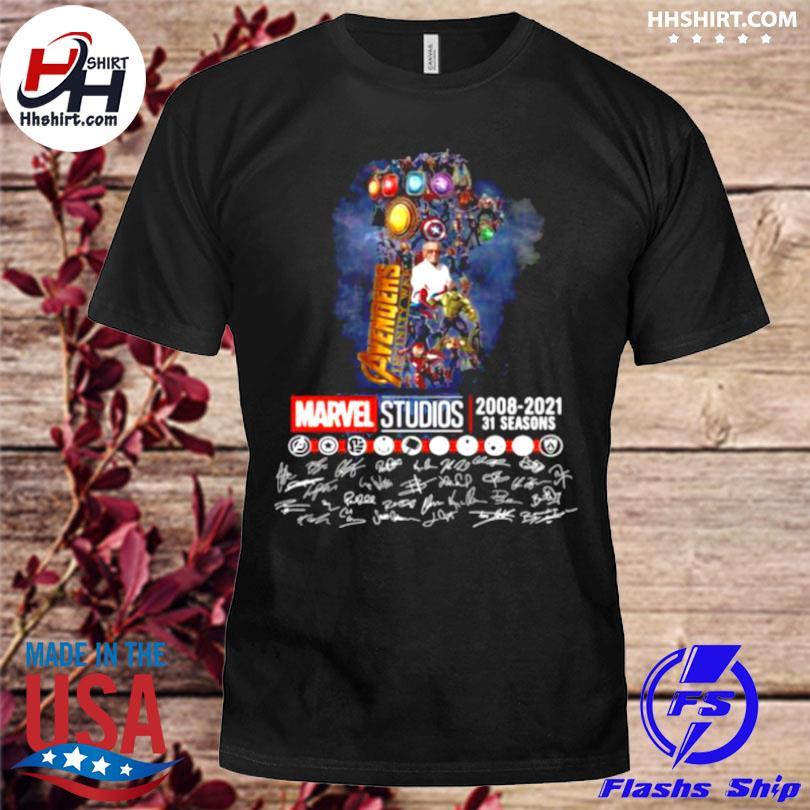 Avengers marvel studio 2008 2021 31 seasons signatures shirt