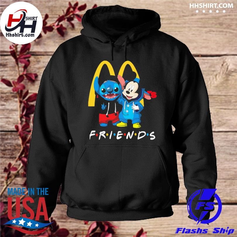 Baby Stitch and Mickey Mouse McDonald's Friends hoodie