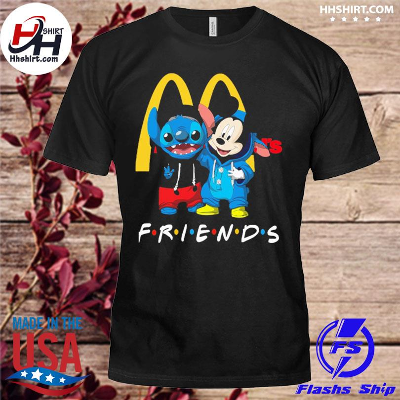 Baby Stitch and Mickey Mouse McDonald's Friends shirt
