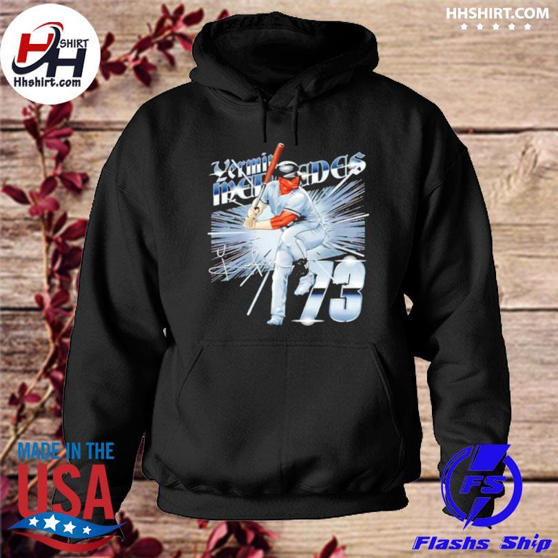 Chicago baseball 73 yermin mercedes metallic signature hoodie