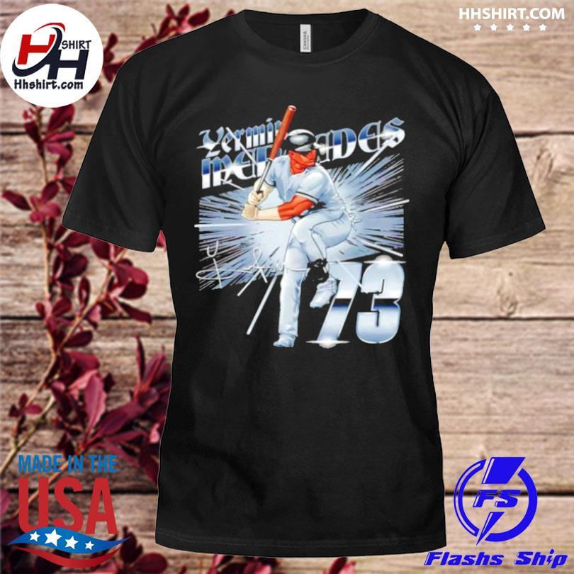 Chicago baseball 73 yermin mercedes metallic signature shirt