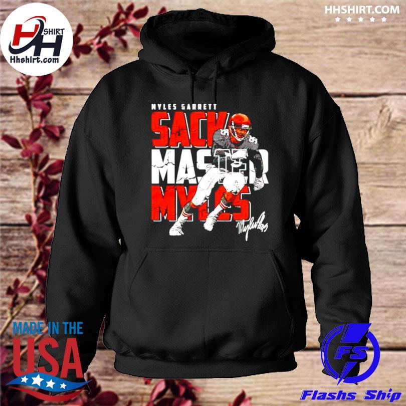 Cleveland football myles garrett sack master myles signature hoodie