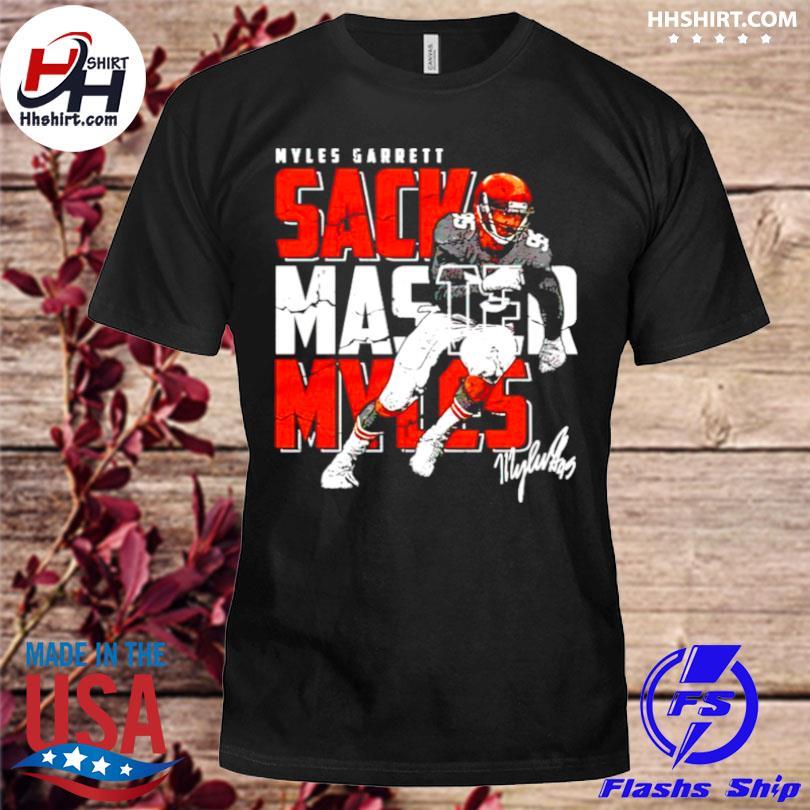 Cleveland football myles garrett sack master myles signature shirt