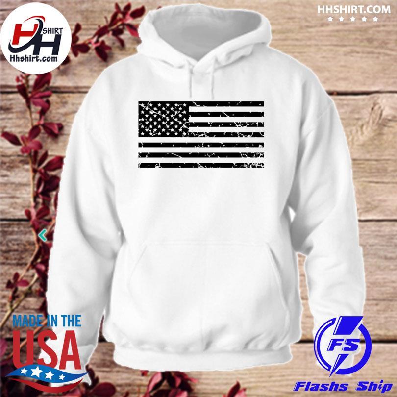 Distressed American flag hoodie