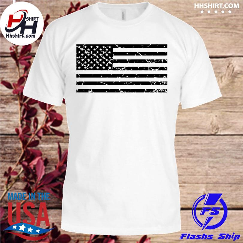 Distressed American flag shirt