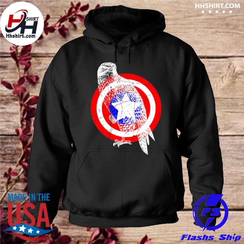 Falcon america distressed captain gear hoodie