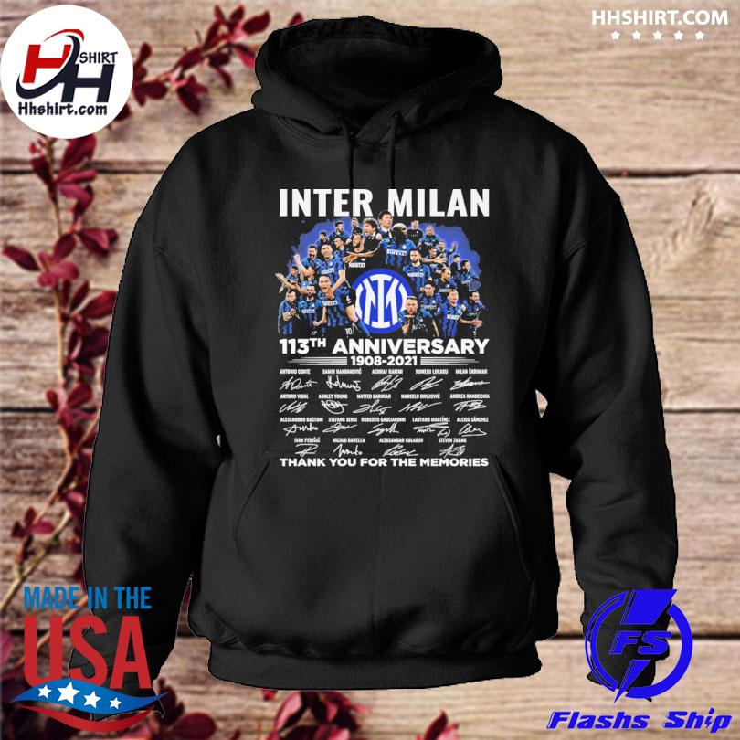 Inter Milan 113th anniversary thank you for you for the memories signatures hoodie