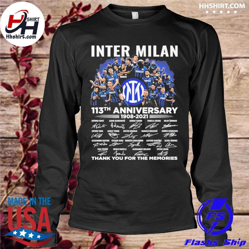 Inter Milan 113th anniversary thank you for you for the memories signatures longleeve