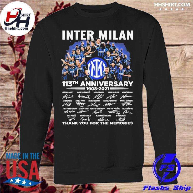 Inter Milan 113th anniversary thank you for you for the memories signatures sweatshirt