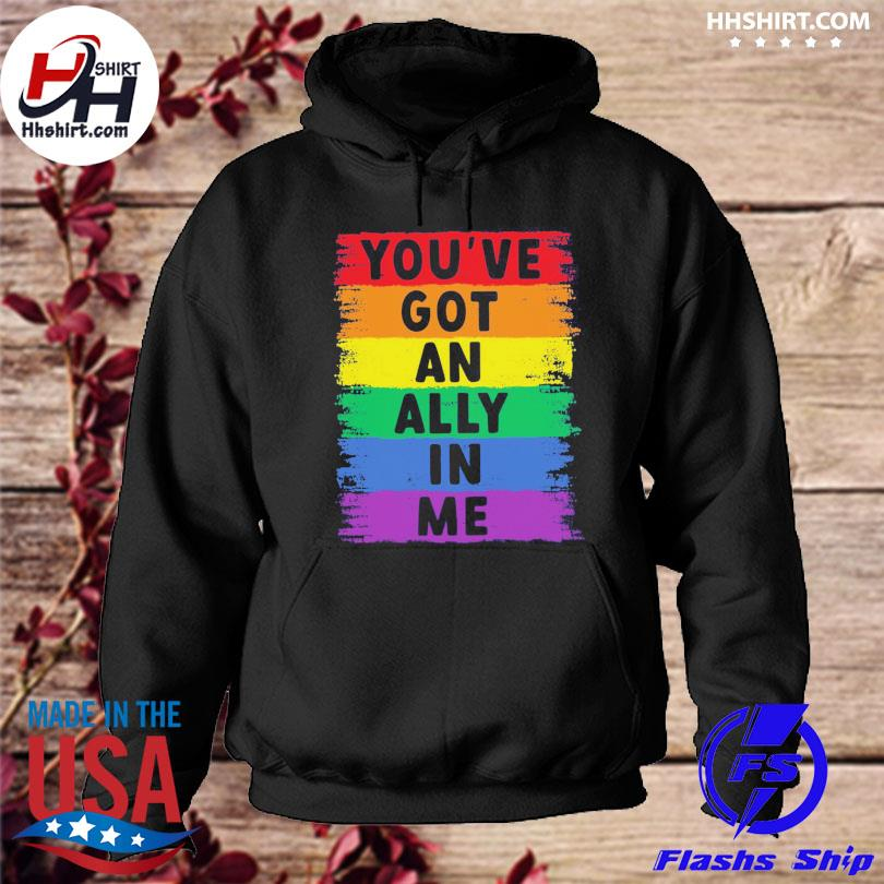 LGBT you've got an ally in me hoodie