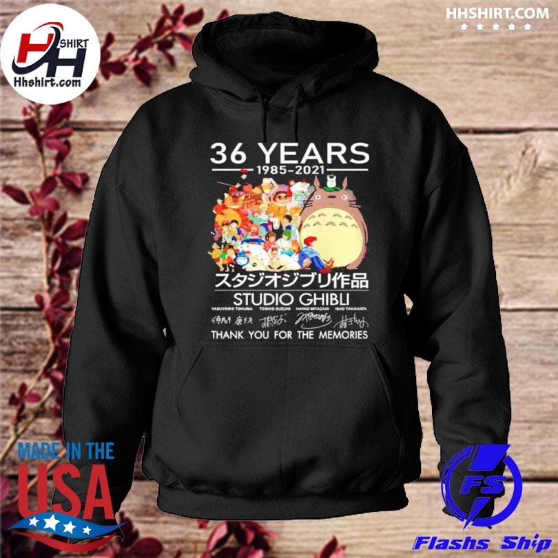 Official 36 years studio ghibli 1985 2021 thank you for the memories hoodie