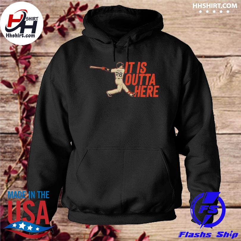 Official posey it is outta here hoodie