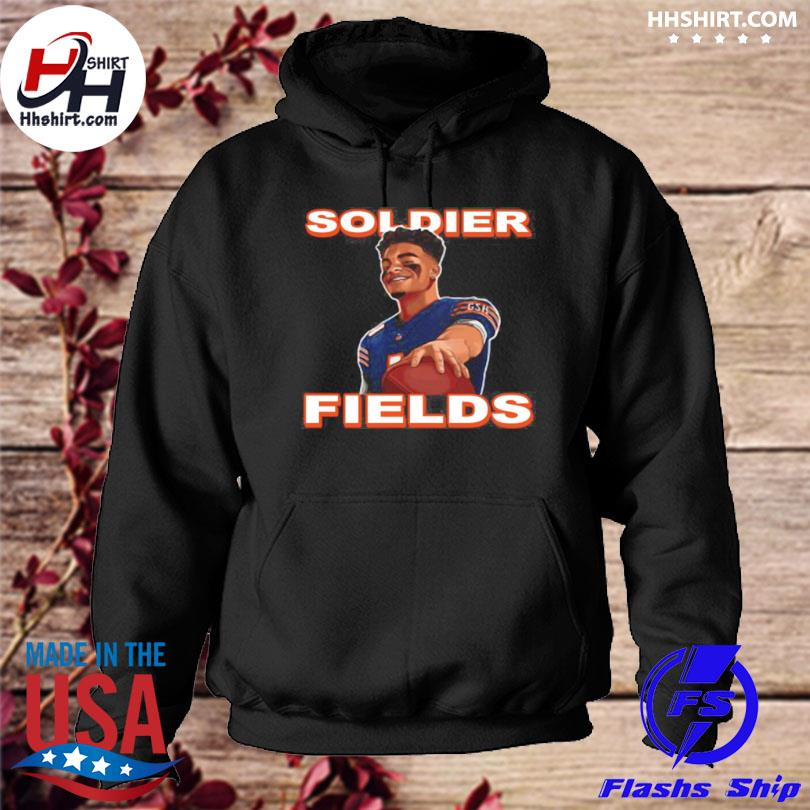 Official Soldier fields justin fields chicago bears hoodie