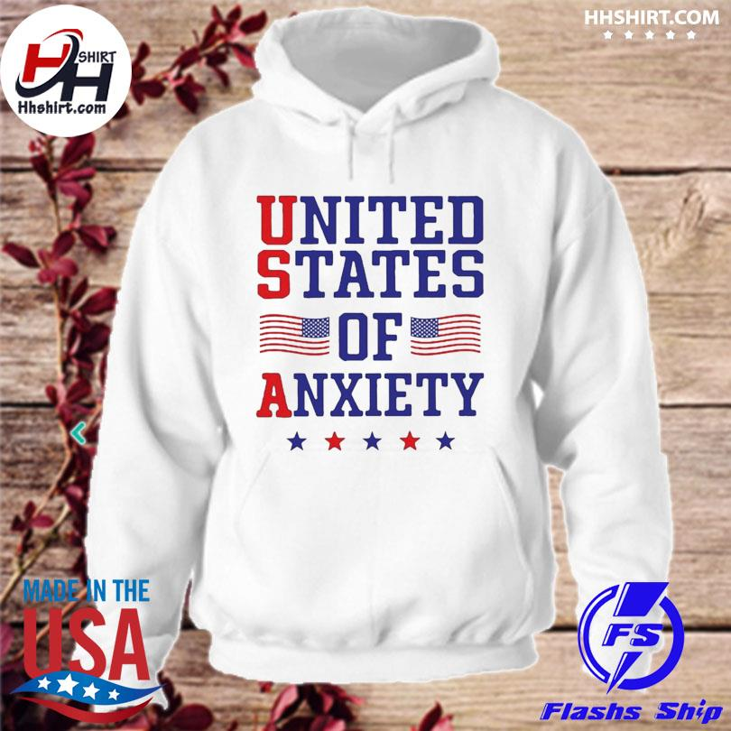 Official United states of anxiety American flag hoodie