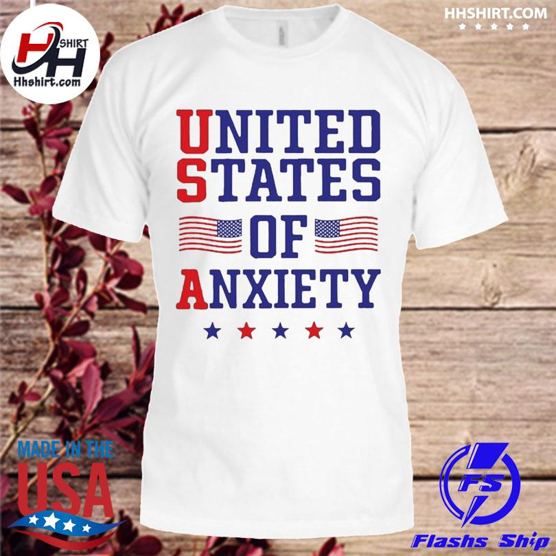 Official United states of anxiety American flag shirt
