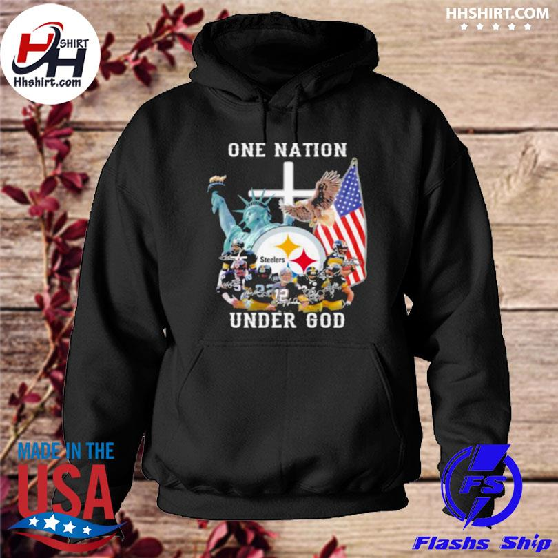 One nation under god Pittsburgh steelers hoodie