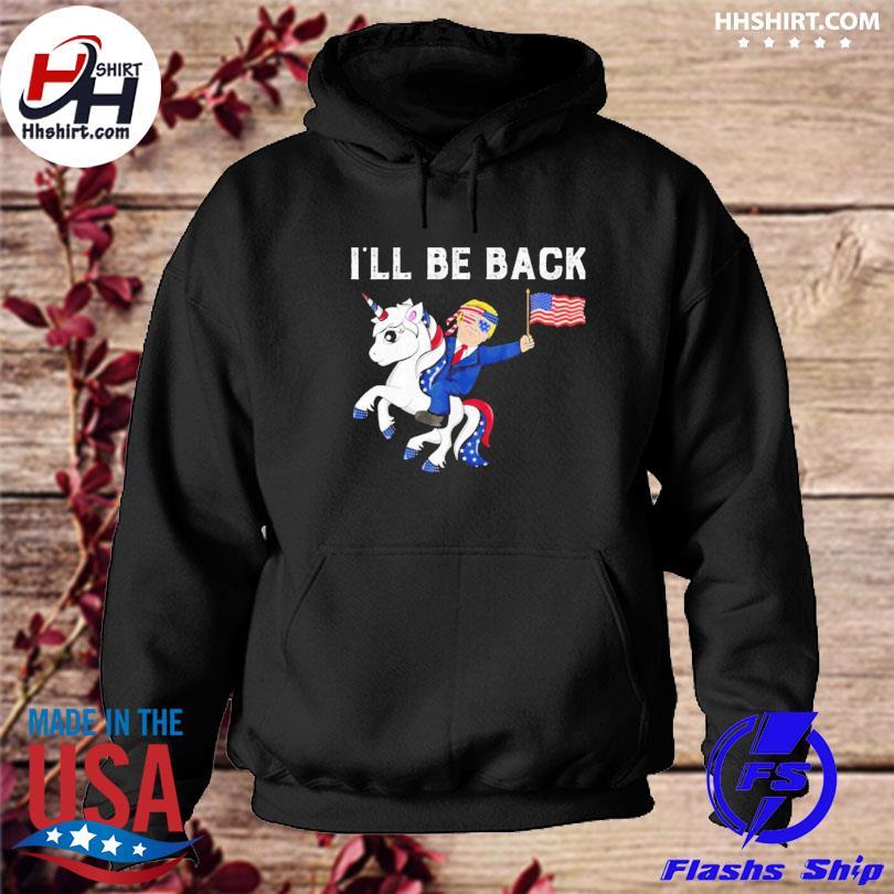 Unicon Donald Trump I'll be back American flag hoodie