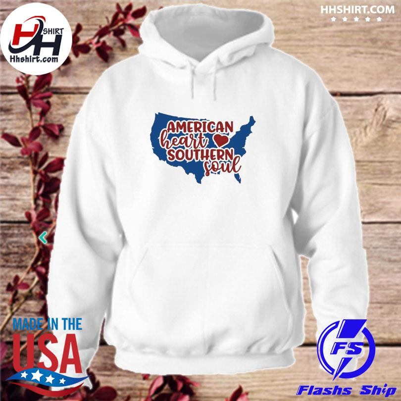 American heart southern soul 4th of july s hoodie
