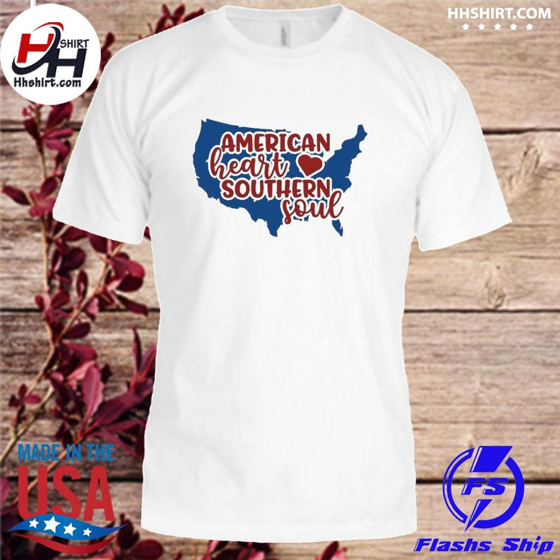 American heart southern soul 4th of july shirt