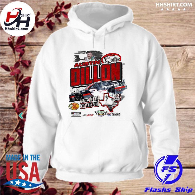 Austin Dillon Heather Gray 2020 O'Reilly Auto Parts 500 Race Winner T-Shirt hoodie