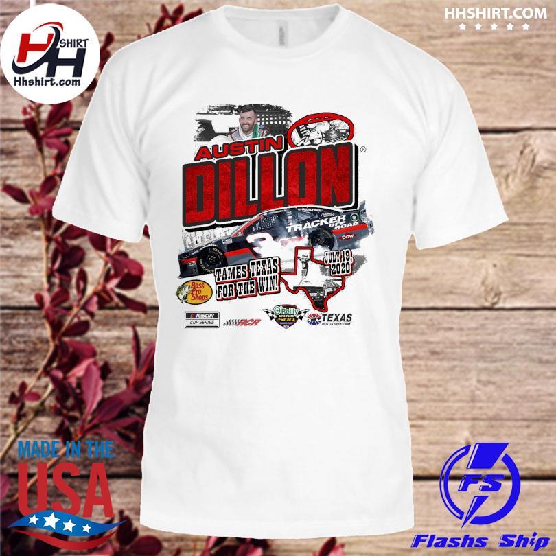 Austin Dillon Heather Gray 2020 O'Reilly Auto Parts 500 Race Winner T-Shirt