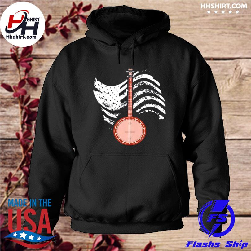 Cool banjo lover present cute bluegrass country mu s hoodie