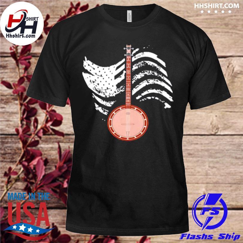 Cool banjo lover present cute bluegrass country mu shirt