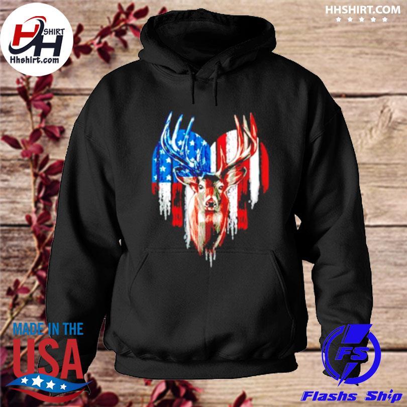 Deer American flag happy 4th of july s hoodie