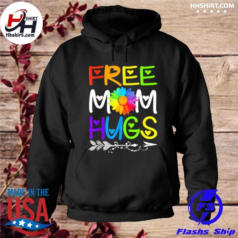 Free Mom Hugs Rainbow Heart LGBT Pride Month s hoodie