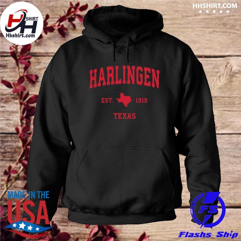 Harlingen Texas tx est 1910 vintage sports s hoodie