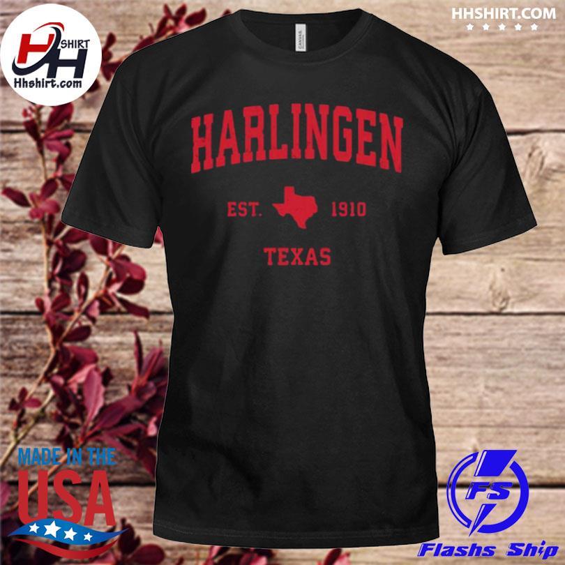 Harlingen Texas tx est 1910 vintage sports shirt