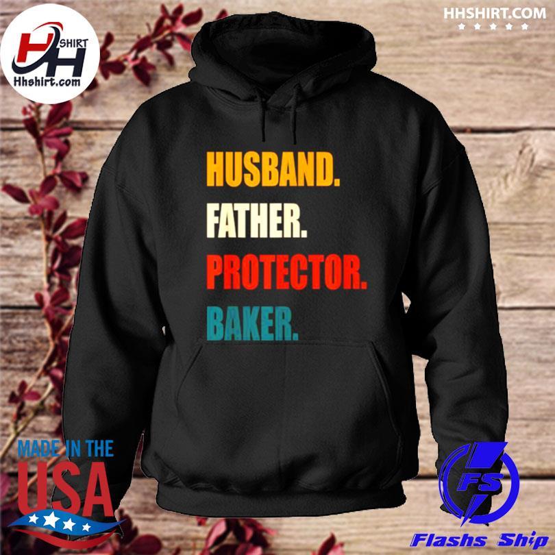 Husband father protector baker vintage s hoodie