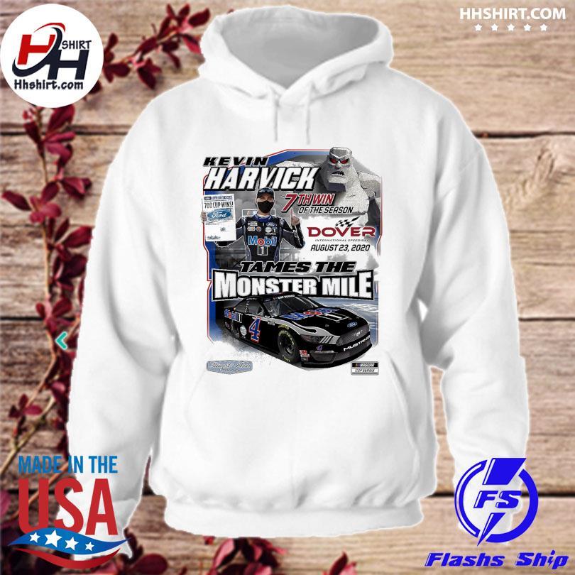 Kevin Harvick Checkered Flag White 2020 Drydene 311 Sunday Race Winner One-Hit T-Shirt hoodie