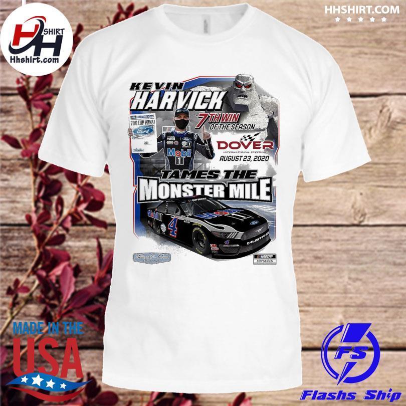 Kevin Harvick Checkered Flag White 2020 Drydene 311 Sunday Race Winner One-Hit T-Shirt