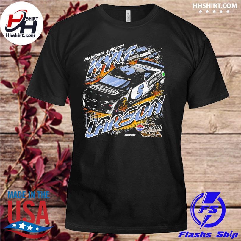 Kyle Larson Hendrick Motorsports Team Collection Charcoal Freightliner Car Shirt