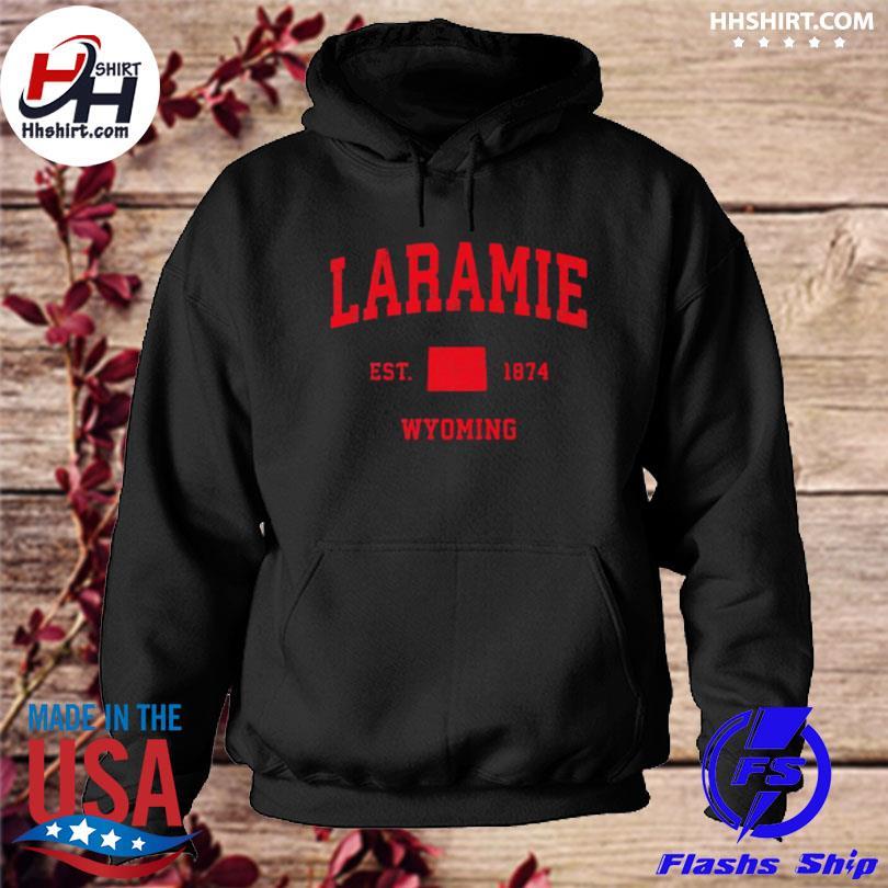 Laramie wyoming wy est 1874 vintage sports s hoodie