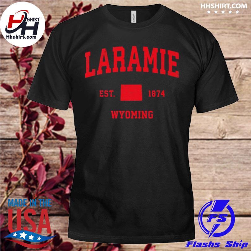 Laramie wyoming wy est 1874 vintage sports shirt
