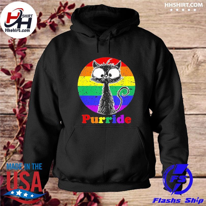 Lgbt cat lovers purride flag gay pride month lgbtq s hoodie