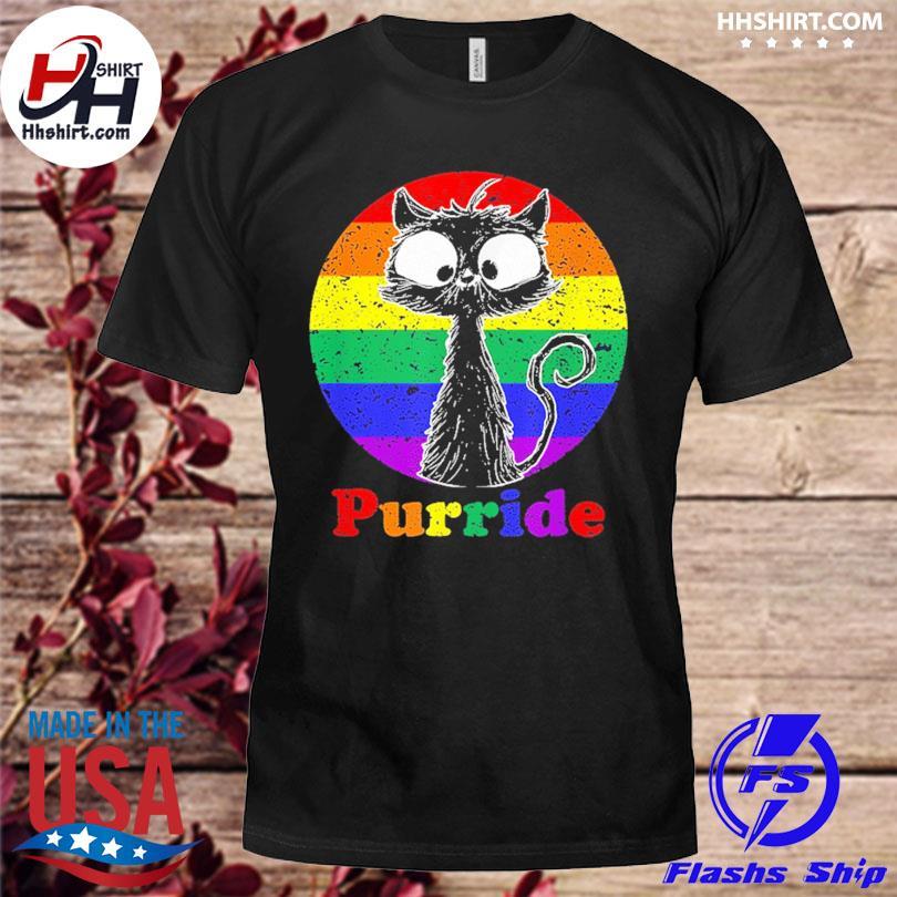 Lgbt cat lovers purride flag gay pride month lgbtq shirt