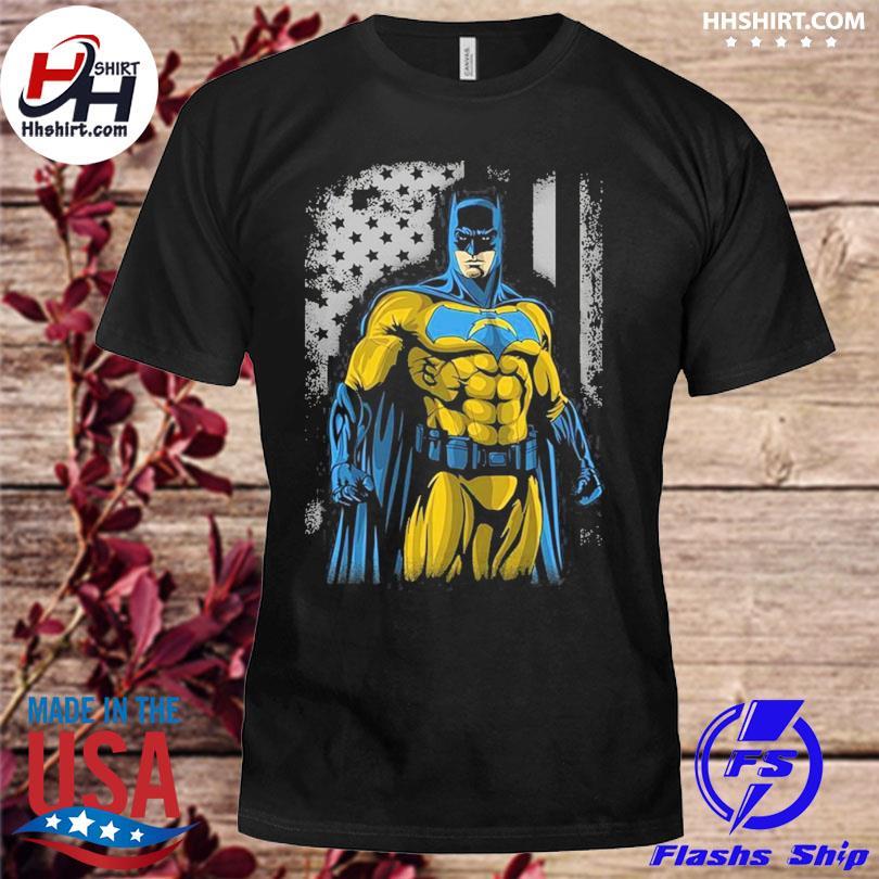 Los Angeles Chargers Batman Flag Dc Marvel Jersey Superhero Avenger shirt