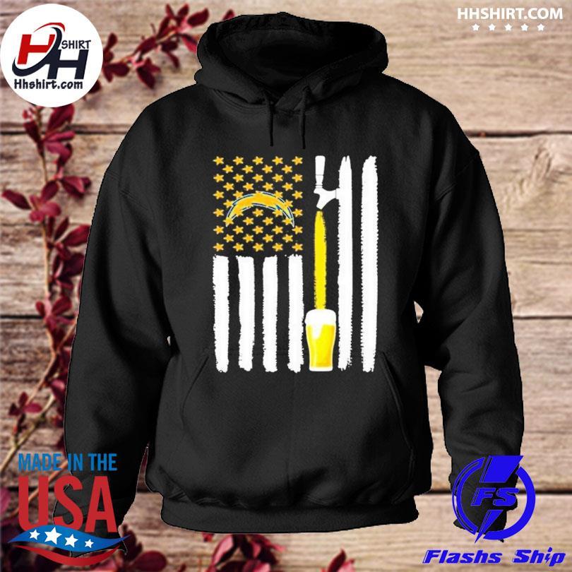 Los Angeles Chargers Beer American Flag Shirt hoodie