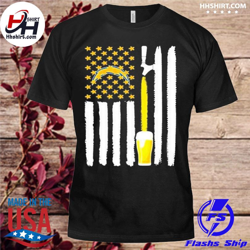 Los Angeles Chargers Beer American Flag Shirt