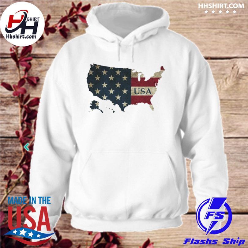 Map American flag s hoodie