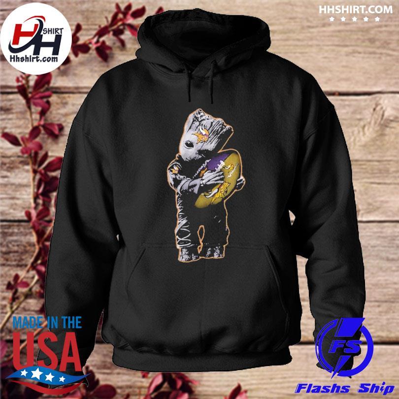 Minnesota Vikings Baby Groot Hug Minnesota Vikings Football Nfl s hoodie