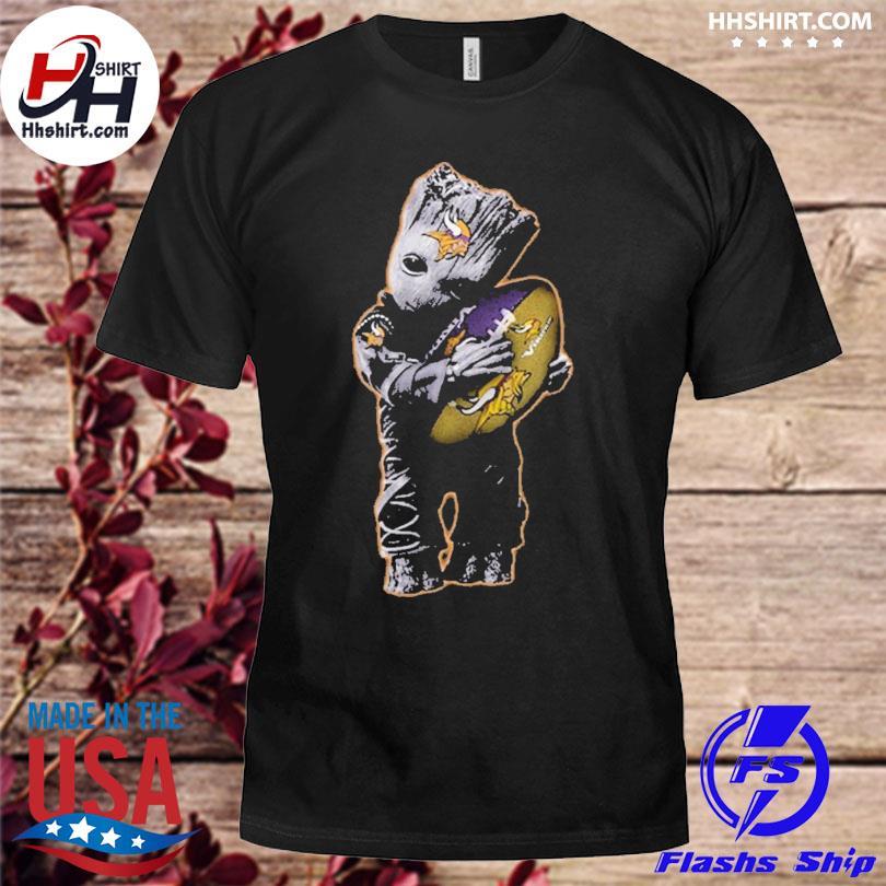 Minnesota Vikings Baby Groot Hug Minnesota Vikings Football Nfl shirt