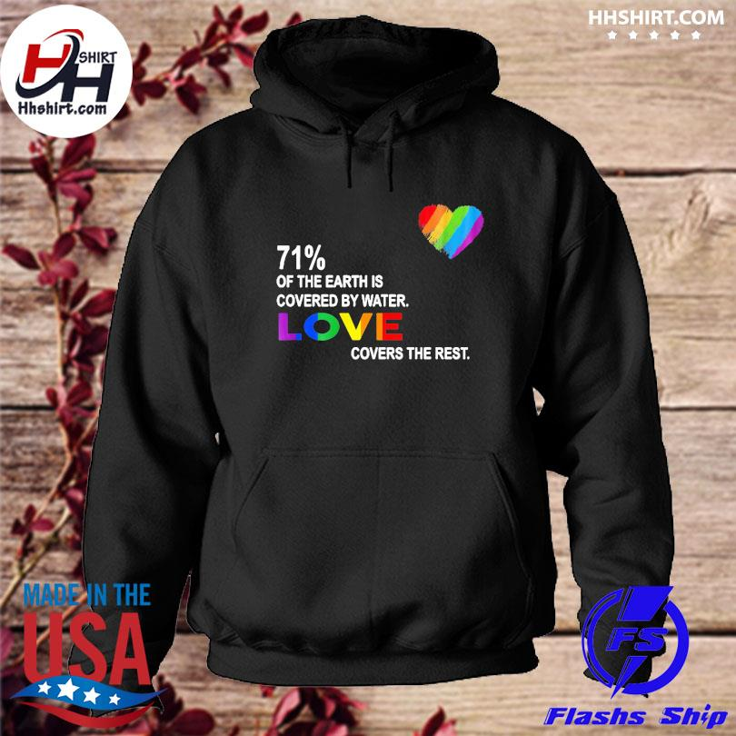 Official 71% of the earth is covered by water love covers the rest s hoodie