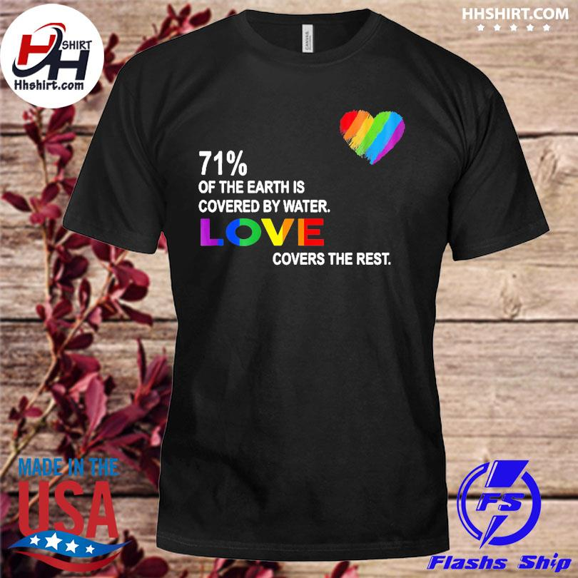 Official 71% of the earth is covered by water love covers the rest shirt